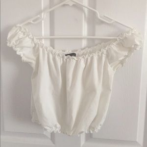 Brandy Melville Off the Shoulder Frilly Top